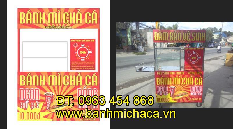 Bán xe bánh mì chả cá tại tỉnh Cần Thơ